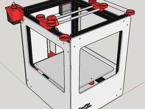 Magikis Fabrikis 0.7 - H-Bot 3D printer for under $300