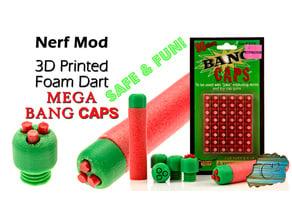 Extra-Loud Nerf Mega Dart Tips:  Mega Bang Cap Darts