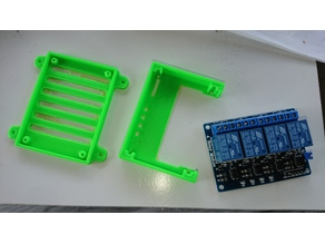 Case for 4 x Relay Board  Raspberry