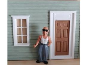 1:29 scale door for Piko structures