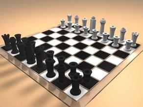 Minimalistic Print Chess Set Nr. 12