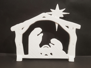 Nativity scene or two T-Rexes?