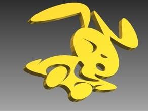 Bunny Go Go - keychain idol