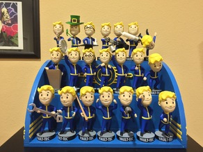 Fallout : Vault Boy Bobbleheads Shelf (Remix for Makerbot print bed)
