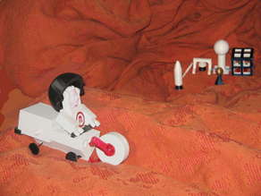 Bre In Space! MakerBot Mars Base.