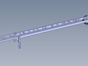 53Ft Chassis Trailer HO Scale
