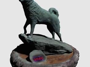 UConn Jonathan the Husky Statue