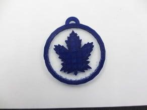Leafs Logo Keychain