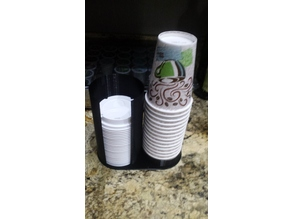 Dixie Coffee Cup and Lid Holder