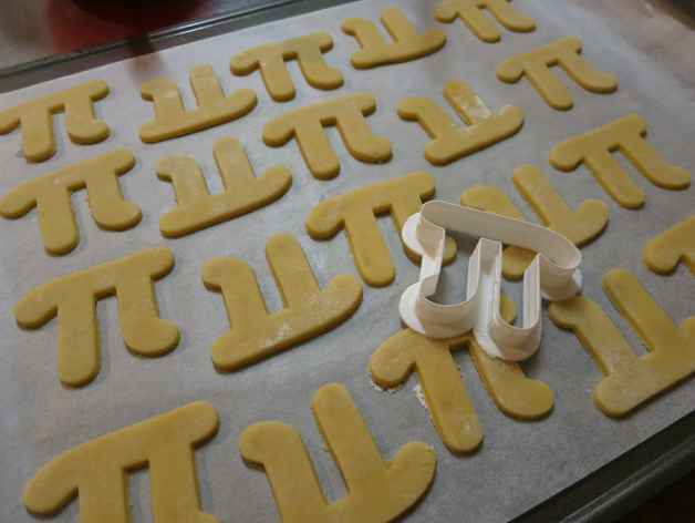 Pi cutter and cookies