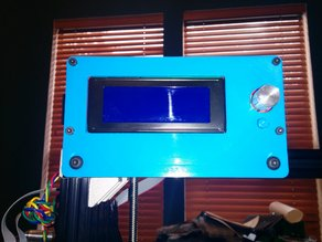 RAMPS LCD Controller Mount and Bezel for 2020 Extrusion