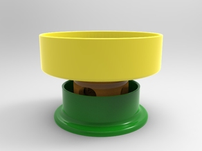 anti ant dog bowl/moat/platform