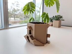Tower Villa Water Tank Planter Pot