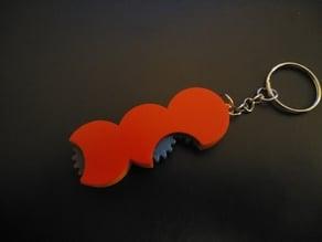 A gear keychain