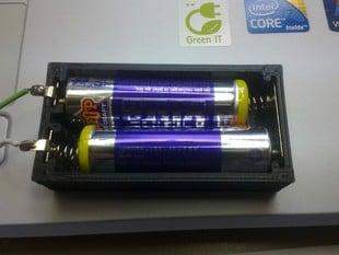 Battery Holder for 2 AA Batteries