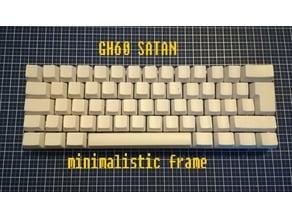 GH60 / Satan mechanical keyboard three piece minimalistic frame