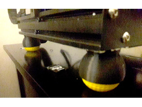 Ender 3 4040 Slide in Foam Golf Ball Foot Damper