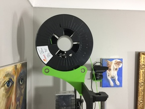 Roller filament spool holder - clip-on type - fits PRUSA mk3