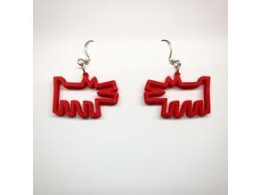 Kieth Haring Dog Earrings