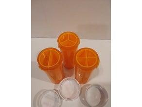 Medicine Rx Pill Bottle Organizers - 16d size bottle