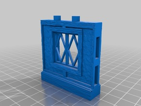OpenLock 5.0 Tudor Wall Window -Diamond Pane