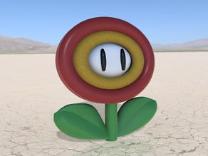 Fire Flower from Super Mario Bros (With Base)