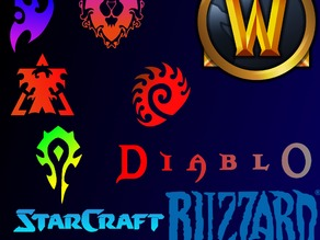 3D Blizzard Entertainment Logos