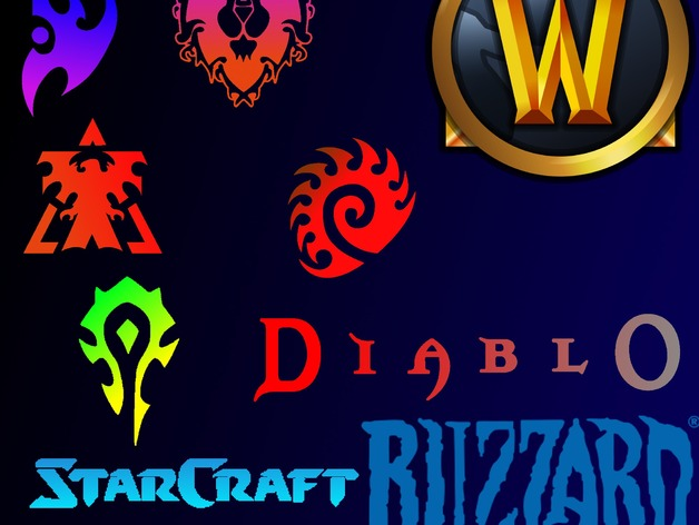 3d Blizzard Entertainment Logos By Nfarrow Thingiverse