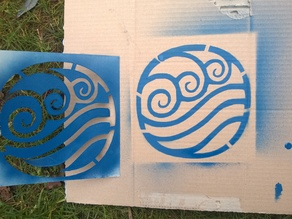 Avatar four elements emblem stencil
