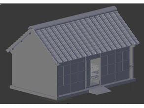 Eastern / Japanese house (simplified)