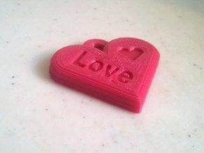 Valentines Love Heart Pendant