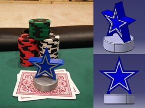 Dallas Cowboys Poker Card Capper