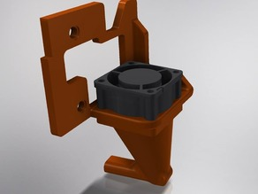 Extruder fan mount for the solidoodle press
