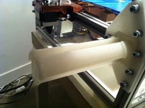 Side spool holder for Reprap Prism