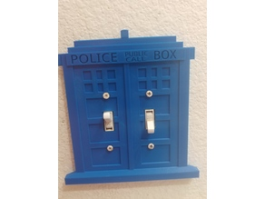 Double and triple tardis light switch cover