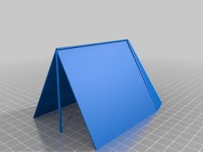 Wedge tent with bell back