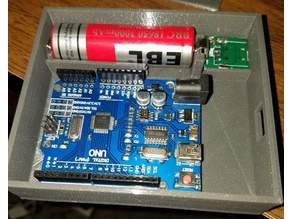 Arduino Uno case plus battery and buck/boost