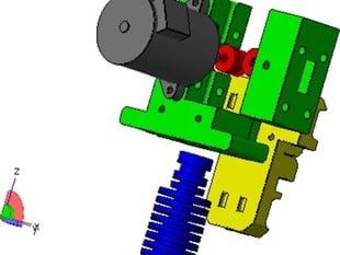 Prusa I3 Extruder PG35l stepper with 24mm mount spacing