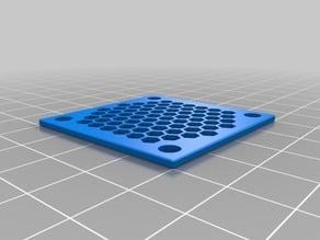 Clean honeycomb fan guard
