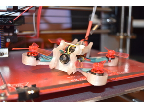 3d printed micro fpv brushless quadcopter for 1103 or 0806 motors
