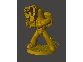 Heavy Weapon Banana Space Knight in Power Armour