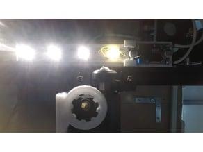 (do not print) LED lights installed on X-axis frame of ender 3