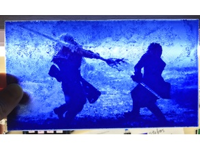 Jon Snow vs White Walker Lithophane
