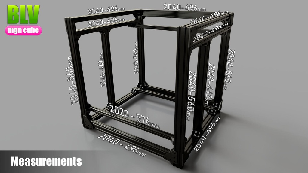 BLV mgn Cube 3d printer by Blv Thingiverse
