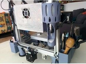 2020 CNC spindle/laser holder and guard