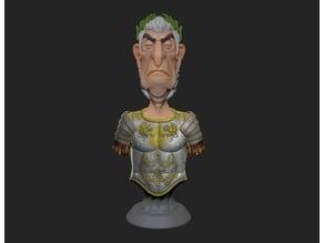 Julius Caesar Bust Chess Piece