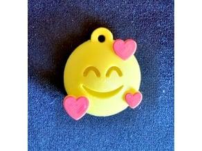 Emoji Hearts Keychain