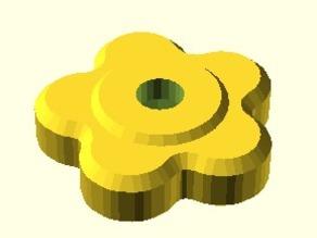 Parametric customizable hand knob