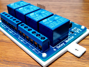 Arduino 4 Relay Module Bottom Cover Plate with Wall Mount