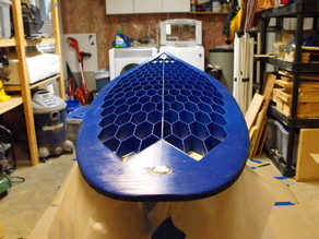 Surfboard - Thruster with glass-on fins